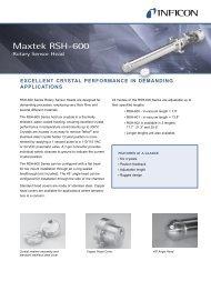 Maxtek RSH-600 Rotary Sensor Head