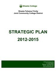 STRATEGIC PLAN 2012-2015 - Shasta College