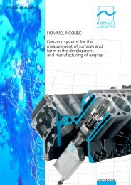 HOMMEL INCOLINE Dynamic systems for the measurement of ...
