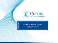 Investor Presentation January 2010 - Cortex Business Solutions Inc ...