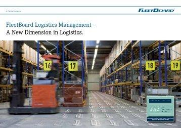 FleetBoard Logistics Management - Daimler FleetBoard GmbH