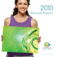 Annual Report - Mental Health Research Institute