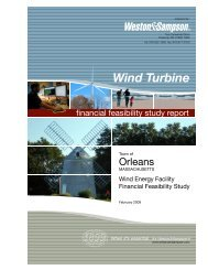 Wind Energy Feasibility Study - Town Of Orleans