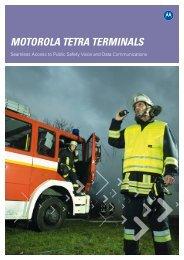 MOTOROLA TETRA TERMINALS - Sigma Wireless