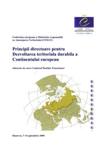 Principii directoare pentru Dezvoltarea teritoriala ... - Infocooperare