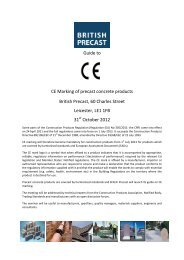 Guide to CE Marking of precast concrete products British Precast, 60 ...