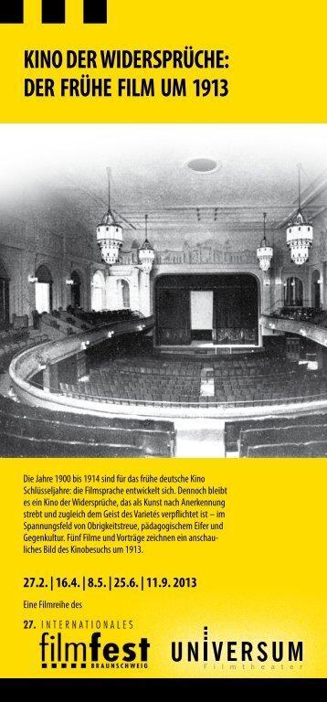 KINO DER WIDERSPRÜCHE: DER FRÜHE FILM UM 1913 - Filmfest