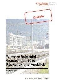 Wirtschaftsleitbild Graubünden 2010: Rückblick und Ausblick