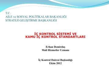İç Kontrol Sistemi ve Kamu İç Kontrol Standartları (Ekim 2012)