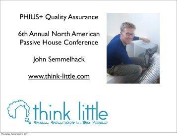 Quality Assurance protocol for Passive Designs under PHIUS+