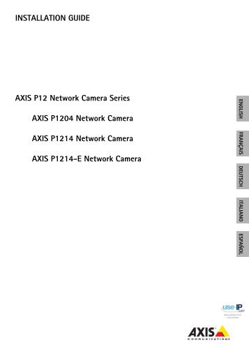 Axis P1214-E Miniature Network Camera Installation Guide - Use-IP