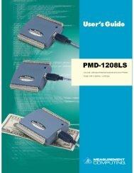 PMD-1208LS User's Guide - LArTPC DocDB