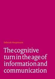 The cognitive turn in the age of information and communication ...