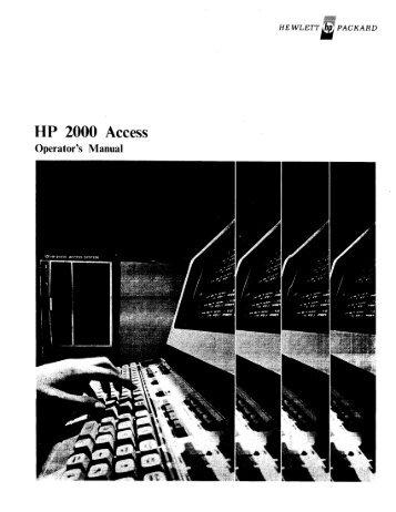 UP 2000 Access - Al Kossow's Bitsavers