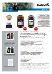 """GPS P f """"GPS-Perfo kostenlose eTrex 20/30 i k kt F t it ... - ELV"""