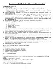 Guidelines for Chili Cookoff and Showmanship ... - Andy's Web Tools