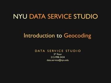 NYU DATA SERVICE STUDIO