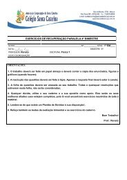 EXERCÍCIOS DE RECUPERAÇÃO PARALELA 4º BIMESTRE