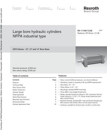 Large bore hydraulic cylinders - CMA/Flodyne/Hydradyne