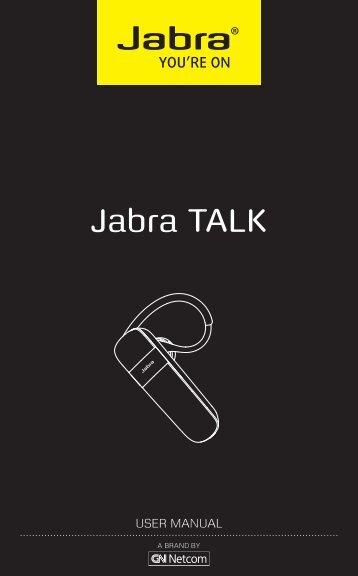 User Manual Jabra TALK US English - RBC Talk & Save
