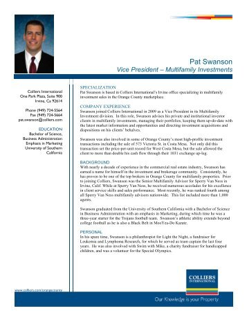 Pat Swanson - Colliers International