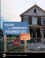 Vacant and Abandoned Properties - U.S. Conference of Mayors