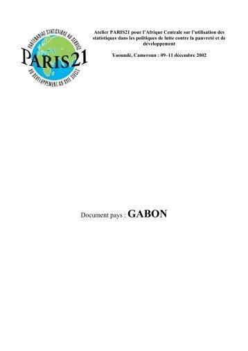 La situation du système statistique au Gabon - Paris21