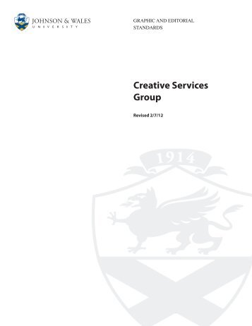 Creative Services Group - Johnson & Wales University