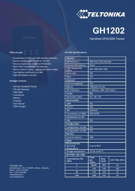 TELTONIKA GH1202 DRIVER DOWNLOAD