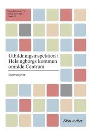 Utb.inspektion Helsingborg Centrum - Skolverket