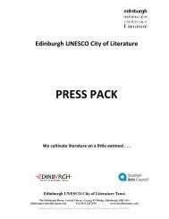 2010 Press Pack - Edinburgh UNESCO City of Literature