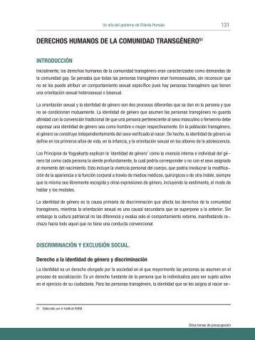 Derechos humanos de la comunidad transgénero - Coordinadora ...