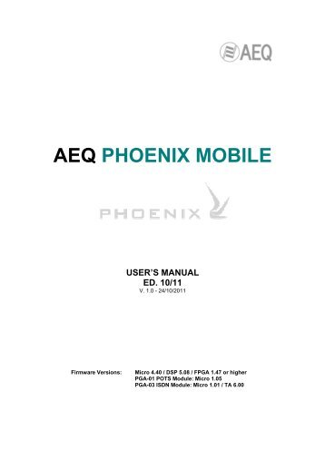 Manual - AEQ International