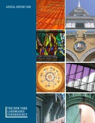 Download Annual Report - The New York Landmarks Conservancy
