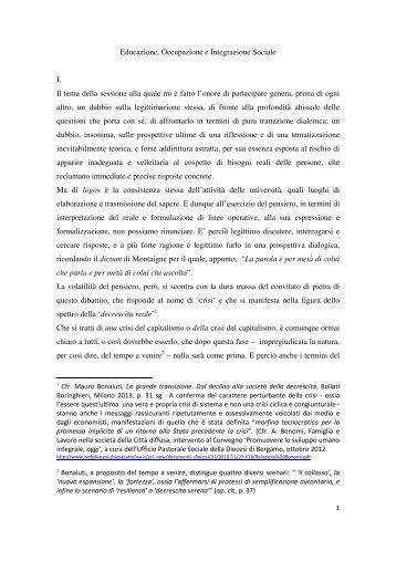 prof. franco anelli - Centesimus Annus Pro Pontifice