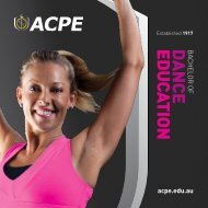 Bachelor of Dance Education - AIAS