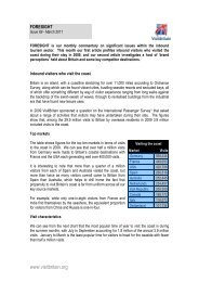 Foresight issue 89 - VisitBritain
