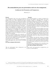 Recommandations pour une présentation orale avec des transparents