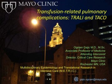 Transfusion-related pulmonary complications: TRALI ... - RM Solutions