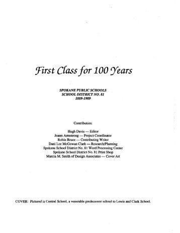 SPS First 100 Years - Spokane Public Schools