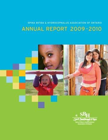 ANNUAL REPORT 2009 -2010 - Spina Bifida & Hydrocephalus ...