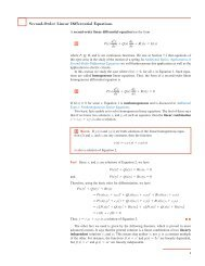 Second-Order Linear Differential Equations - Stewart Calculus