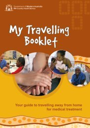 My Travelling Booklet - WA Country Health Service