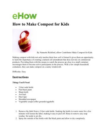 How to Make Compost for Kids