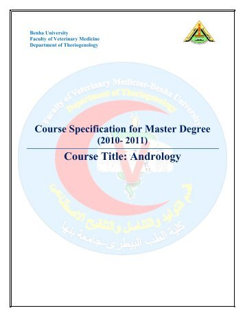 Theriogenology-FVM-BU-Master-Subsidory 2-Andrology-Course