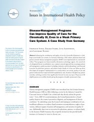 Disease-Management Programs Can Improve Quality of Care for the ...