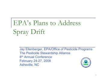 Spray Drift Reduction - The Pesticide Stewardship Alliance TPSA