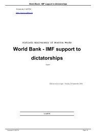 World Bank - IMF support to dictatorships - cadtm