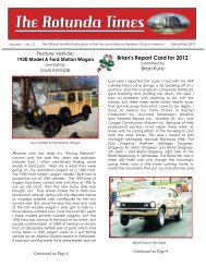 December 2012 - Ford & Mercury Restorers Club of America