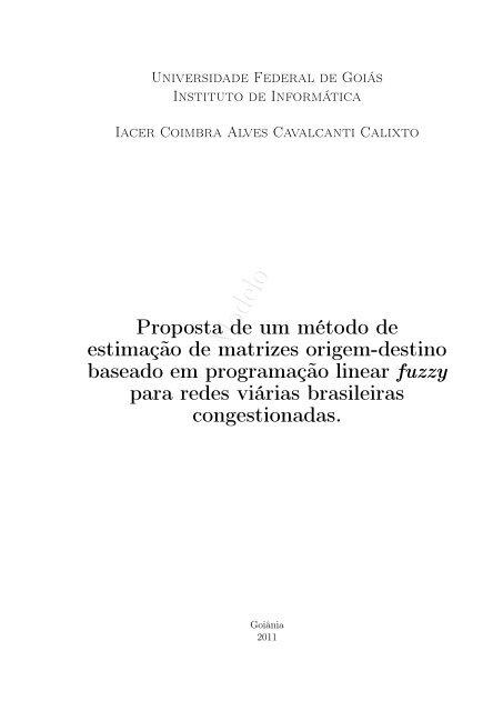 Proposta de um método de estimação de matrizes origem-destino ...
